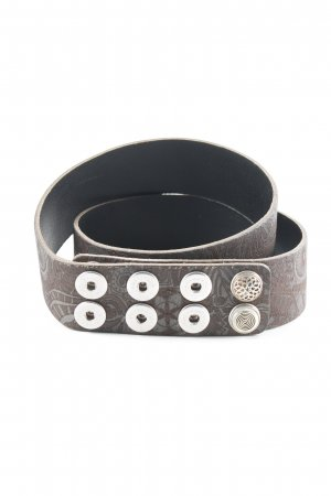 Noosa Leather Belt dark brown abstract pattern Boho look