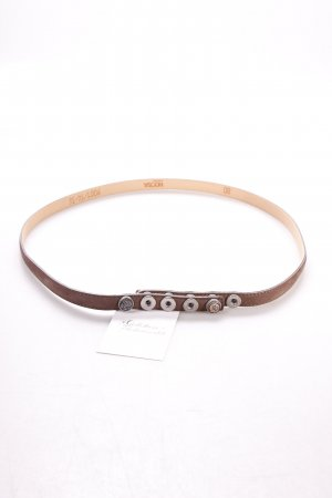 Noosa Leather Belt dark brown embossed logo