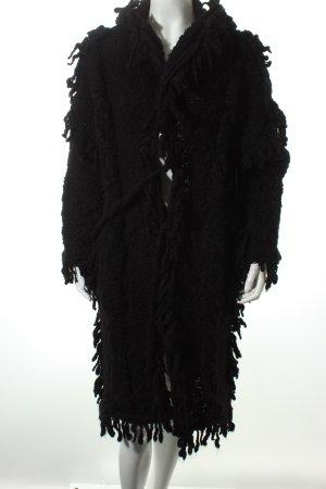 Nordenfeldt Cappotto in lana nero punto treccia stile casual
