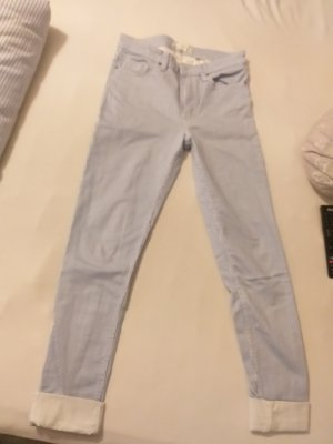 H&M L.O.G.G. High Waist Trousers white-light blue