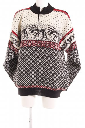 Nordstrikk Traditional Jumper mixed pattern vintage look