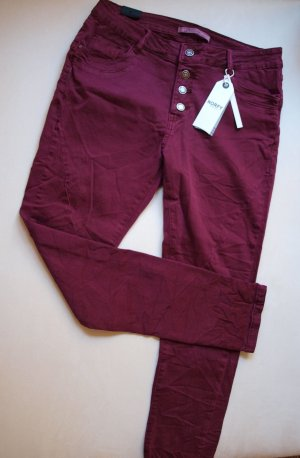 Boyfriend Jeans bordeaux cotton