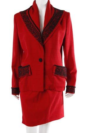 Norma Kamali Kostüm Rot
