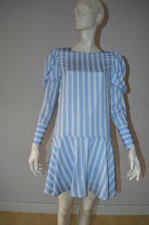 Robe tunique blanc-bleu pâle viscose
