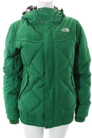 North Face Daunenjacke grün sportlicher Stil