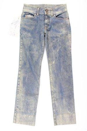Jeans cigarette multicolore coton