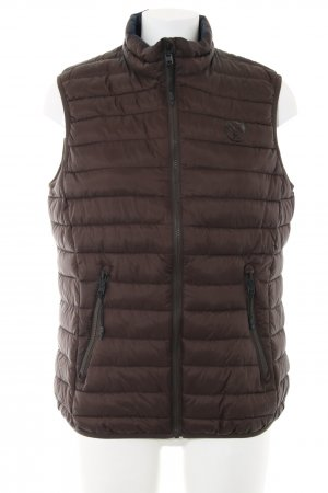 North sails Down Vest brown quilting pattern casual look