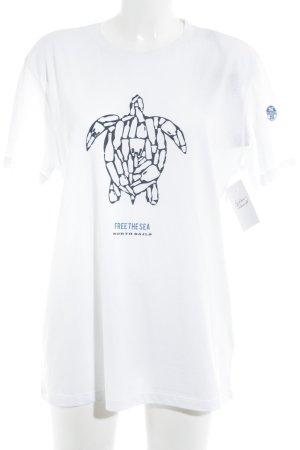 North sails T-Shirt weiß-schwarz Motivdruck schlichter Stil