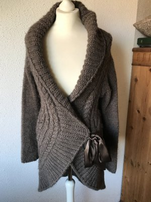 Northland Coarse Knitted Jacket grey brown wool