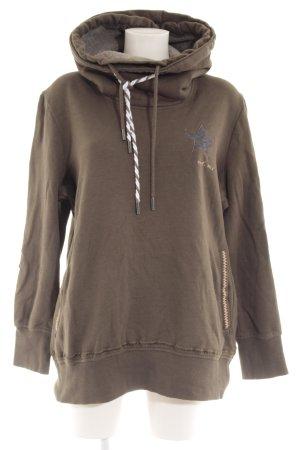 Northland Kapuzensweatshirt khaki-weiß Unisex-Artikel