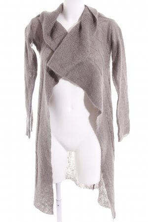 Northland Long Knitted Vest grey brown weave pattern casual look