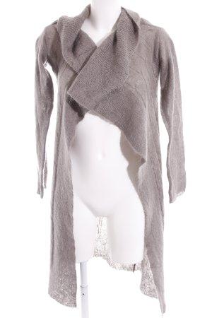 Northland Gilet long tricoté gris brun Motif de tissage style décontracté