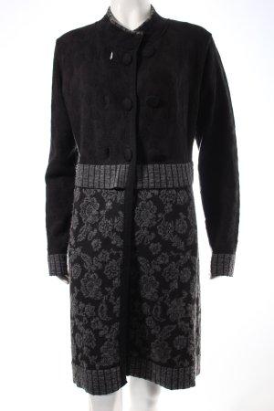 Northland Strick Cardigan dunkelgrau-schwarz florales Muster Casual-Look