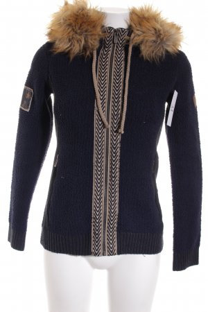 Northland Strickjacke Fischgrätmuster Casual-Look