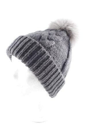 Northland Chapeau en tricot gris torsades style décontracté