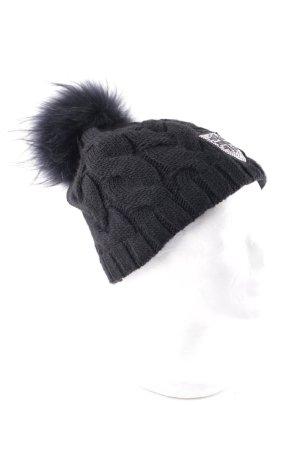 norton Fellmütze schwarz-silberfarben Kuschel-Optik