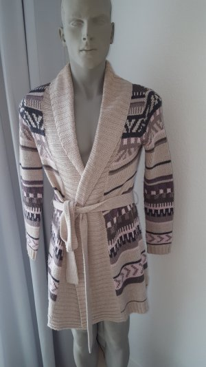 B&C collection Cardigan norvegese beige chiaro Lana