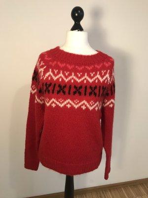 Creatif Classics Maglione norvegese rosso
