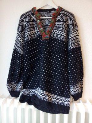 Maglione oversize bianco-nero