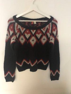 H&M Norwegian Sweater multicolored synthetic fibre