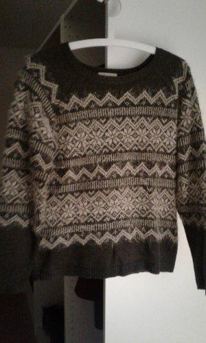 Norweger Pullover Gr.36 grau/beige Aniston