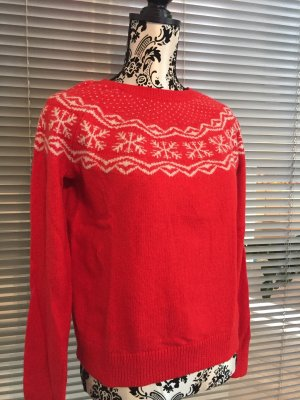 Norweger Pullover / Weihnachtspullover in Rot Gr. S