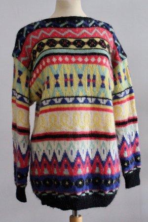 Jersey estilo Noruego multicolor Lana