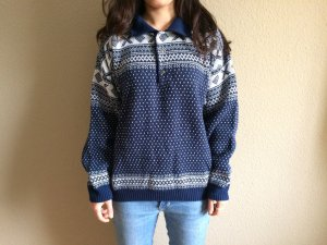 Norweger Pullover/Wollpullover, Oversized, Gr. XL