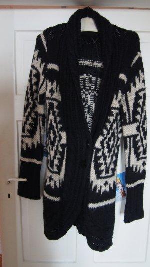 Norweger Strickmantel Strickjacke Cardigan warm dick Ann Christine S 36 / 38