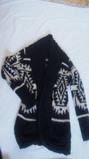 Norweger Strickmantel Strickjacke Cardigan warm dick Ann Christine S 36 / 38