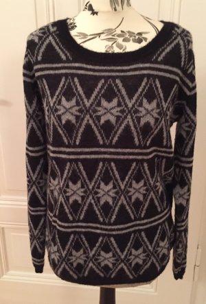 Norweger Style Pullover mit Mohair von Maison Scotch oversized Gr.36-42