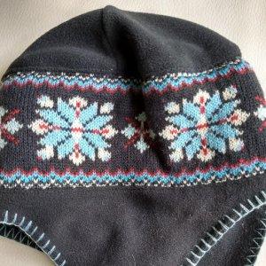 Bonnet cache-oreilles gris-bleu clair tissu mixte