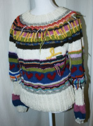 Pull norvégien multicolore laine