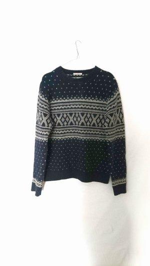 Gant Noorse trui wit-donkerblauw Wol