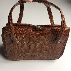 Nostalgische Vintage Handtasche aus echtem Leder