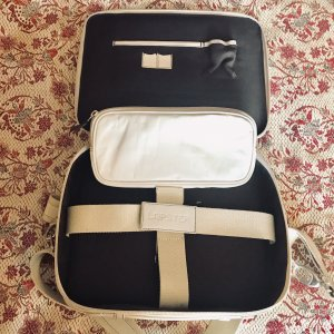 Laptop bag cream-natural white