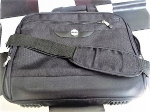 Laptop bag black-light grey