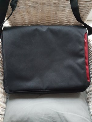 Laptop bag black-carmine mixture fibre