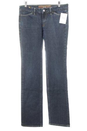 Notify Straight-Leg Jeans dunkelblau Webmuster Casual-Look