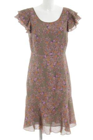 Nougat London Robe chemisier brun-orange clair motif de fleur