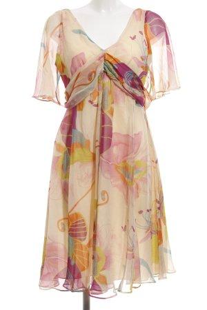 Nougat London Blusenkleid abstraktes Muster Elegant