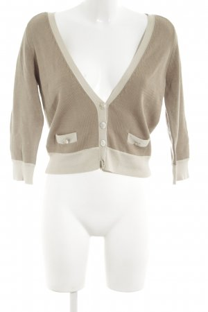 Nougat London Knitted Cardigan natural white-brown business style