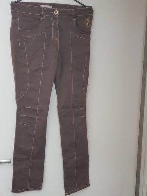Elisa Cavaletti Drainpipe Trousers light brown