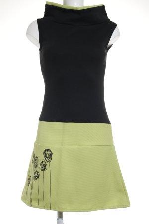 Novedadesdorins Barcelona A-Linien Kleid schwarz-hellgrün extravaganter Stil