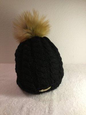 Knitted Hat black-camel