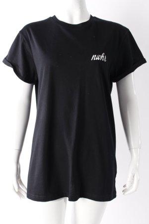 Nowhere T-Shirt schwarz