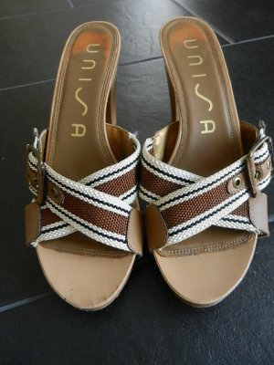 NP 119,90 edle UNISA Pantolette 38 High Heels Mules Sommer Sandalette