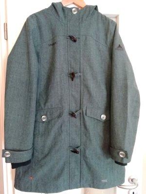 NP 149,90 € VAUDE Women's Yale Coat Outdoor Jacke Mantel türkis Taubenblau