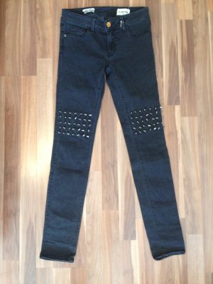 NP 159,95 Nieten Stachel philipp plein-Look Gothik Punk Rock Biker Metall denim black Stretch skinny Rich & Royal ungetragen mit Etiketten