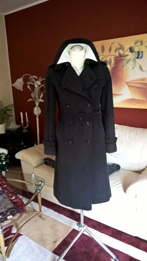 NP:1695,00€ Original Burberry Trenchcoat Gr.36 UK6 S grau/blau Kensington/Mantel